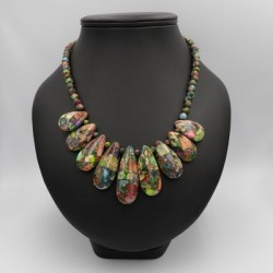 Collier Jaspe multicolor...