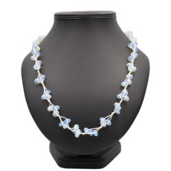Collier Opaline pierre naturelle lithotérapie