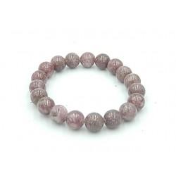 Bracelet Lépidolite pierres...